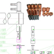 螺栓电极结构示意图